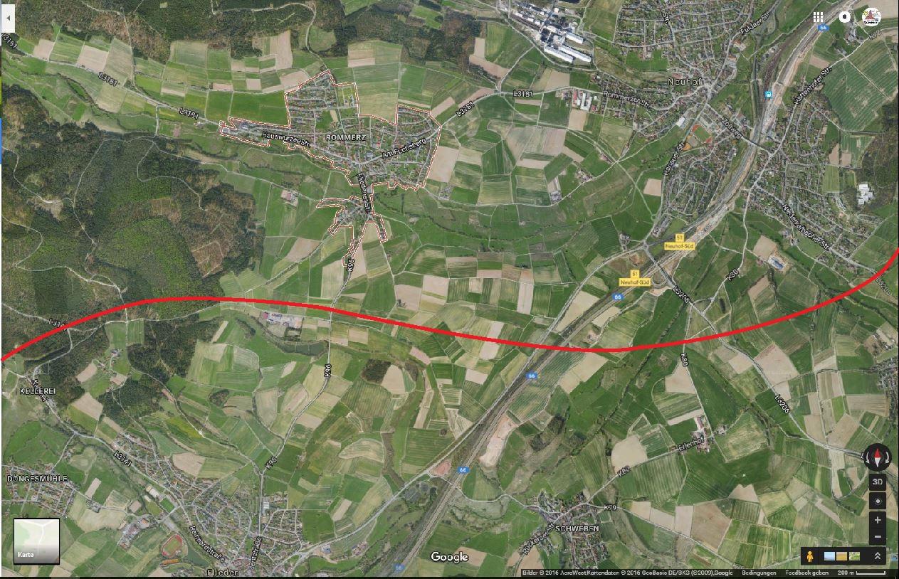 Ansicht-Rommerz-Google-Maps-Skizze